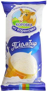 Мороженое пломбир в вафельном стаканчике 15% ТМ Коровка из Кореновки