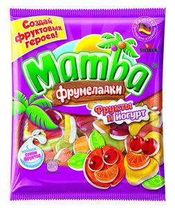Жевательный мармелад Mamba (Мамба) Фрукты и йогурт ТМ Stork (Шторк)