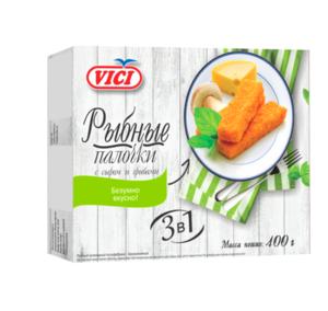 Рыбные палочки с сыром и грибами в панировке ТМ Vici (Вичи)