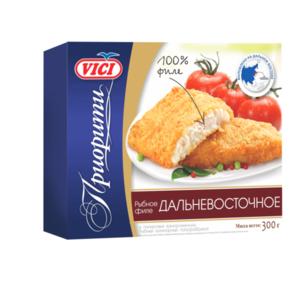 Рыбное филе Дальневосточное панированное замороженное ТМ Vici (Вичи)