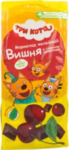 Мармелад желейный Вишня в горьком шоколаде ТМ Три кота