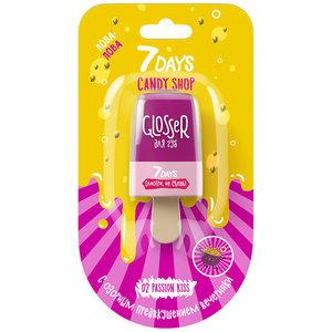 Блеск для губ Candy Shop Lip Glosser (Кенди Шоп Лип Глоссер)/02 Passion Kiss (Пашен Кисс) ТМ 7Days (Севен Дейс)