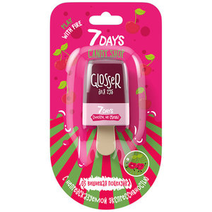 Блеск для губ Candy Shop Lip Glosser (Кенди Шоп Лип Глоссер)/03 Вишневая поцелуйка ТМ 7Days (Севен Дейс)