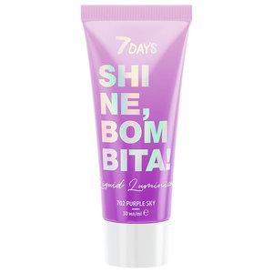 Люминайзер для лица и тела Shine, Bombita! (Шайн, Бомбита!)/702 Purple Sky (Пурпл Скай) ТМ 7Days (Севен Дейс)