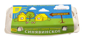 Яйцо куриное Деревенское СО 10 шт ТМ Птицефабрика Синявинская