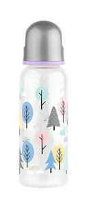 Бутылочка с соской Lubby Малыши и малышки от 0 мес 240-250мл классика полипропилен силикон арт12022/12