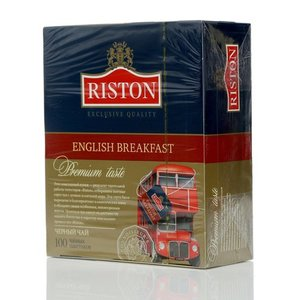 Чай черный ТМ Riston (Ристон) English Breakfast, 100 пакетиков