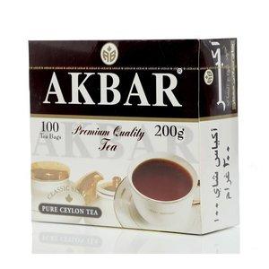Чай черный классическая серия ТМ Akbar (Акбар), 100 пакетиков