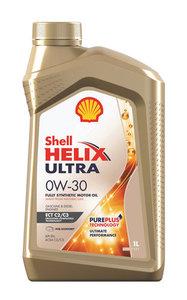 Масло моторное Shell Helix синтетическое Shell ultra ect C2/C3 0W30 1л