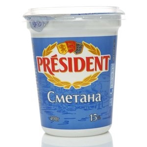Сметана 15% ТМ President (Президент)