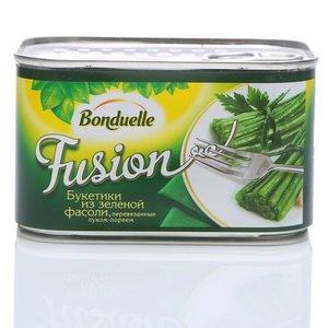 Букетики из зеленой фасоли Bonduelle Fusion перевязанные луком- пореем ТМ Bonduelle (Бондюэль)