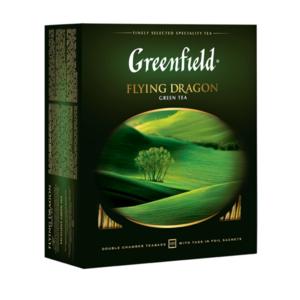 Чай зеленый Flying Dragon (Флайинг Драгон) в пакетиках 100*2г ТМ Greenfield (Гринфилд)