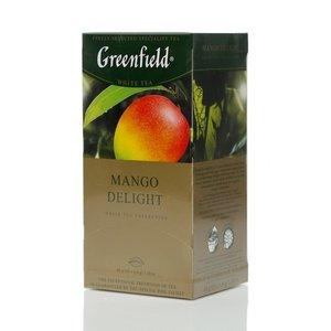 Чай белый байховый ТМ Greenfield (Гринфилд) Mango delight с ароматом манго, 25 пакетиков