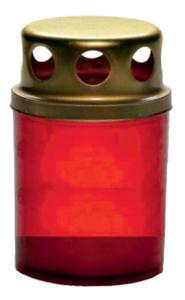 Свеча парафиновая в пластиковой колбе z011xr d5 h8см красная
