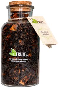 Чай черный beFruitbe с ананасом в стеклянной бутылке 100г