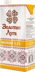 БЗМЖ Молоко утп Золотые луга 3,2% 950 мл