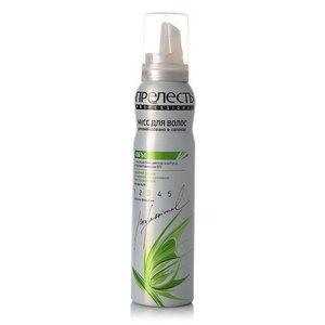 Мусс для укладки волос Объем, сильная фиксация, для нормальных и тонких волос, с экстрактом цветов кактуса и провитамином В5 ТМ Прелесть Professional (Профессионал)