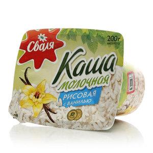 Каша молочная рисовая с ванилью ТМ Сваля