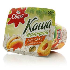 Каша молочная рисовая с абрикосами ТМ Сваля