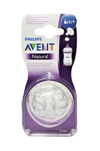 Соска Avent Natural д/густых жидкостей 2шт