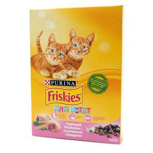 Корм сухой полнорационный для котят с курицей, молоком и полезными овощами ТМ Friskies (Фрискес)