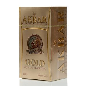 Чай черный Gold (Голд) ТМ Akbar (Акбар), 50 пакетиков