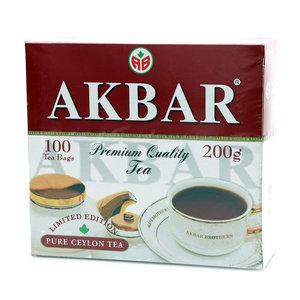 Чай черный 100 years ТМ Akbar (Акбар), 100 пакетиков