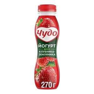 Йогурт питьевой клубника-земляника ТМ Чудо