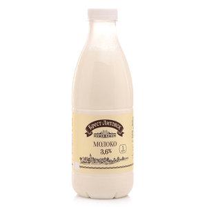 Молоко пастеризованное 3,6% ТМ Брест-Литовск