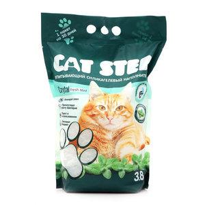Впитывающий силикагелевый наполнитель с ароматом мяты 3,8 л ТМ Cat Step (Кэт Cтеп)