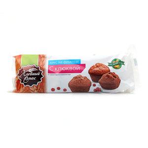 Кекс на фруктозе с клюквой ТМ Хлебный Спас