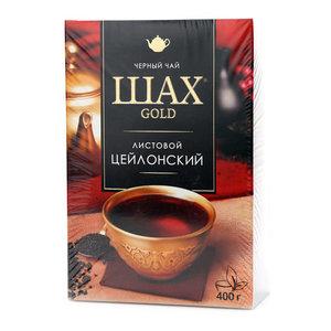 Чай Цейлонский черный листовой 400г ТМ Шах Gold (Голд)