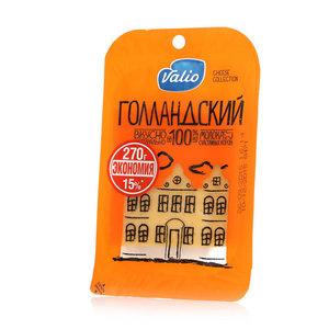 Сыр Голландский 45% в нарезке ТМ Valio (Валио)
