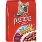 Корм полнорационный для взрослых кошек с мясом и овощами  ТМ Darling (Дарлинг)