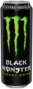 Энергетический напиток безалкогольный газированный Green (Грин) ТМ Black Monster (Блэк Монстер)