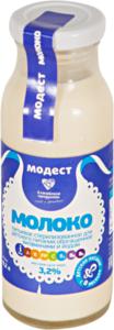 Молоко стерилизованное питьевое для детей с 8 месяцев с витаминами и йодом 3,2% ТМ Модест