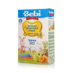 Каша гречневая молочная с курагой и яблоками для питания детей с 5-и месяцев ТМ Bebi (Бэби)