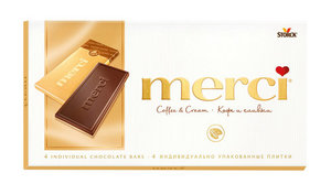 Шоколад Merci (Мерси) Кофе и сливки ТМ Storck (Шторк)