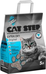 Наполнитель Cat Step Д/кошачьих Туалетов Extra Dry Original Впитывающий Минеральн (италия) 5л
