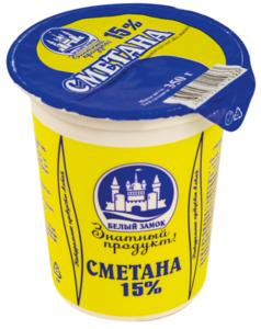 Сметана Белый Замок 15% П/ст Без Змж (россия) 350г