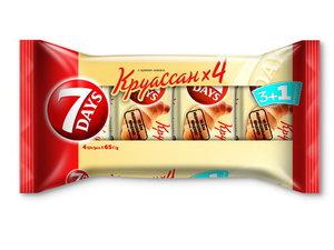 Круассан с кремом какао 3+1, 65 г*4 шт ТМ 7Days (Севен Дейс)
