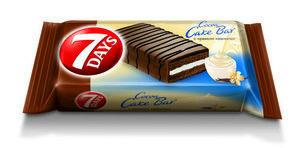 Пирожное бисквитное Cake Bar (Кейк Бар) глазированное с кремом ваниль ТМ 7Days (Севен Дейс)