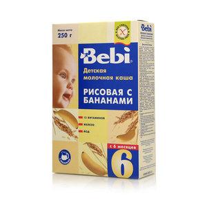 Каша молочная рисовая с бананами ТМ Bebi (Бэби)