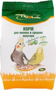 Корм для мелких и средних попугаев Triol с фруктами, 400 г
