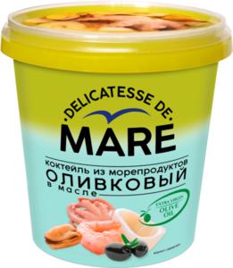 Коктейль из морепродуктов Delicatesse De Mare (Деликатес Де Маре) оливковый в масле ТМ Балтийский берег