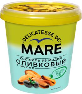 Коктейль из мидий оливковый в масле Delicatesse de mare (Деликатесс де марэ) ТМ Балтийский берег