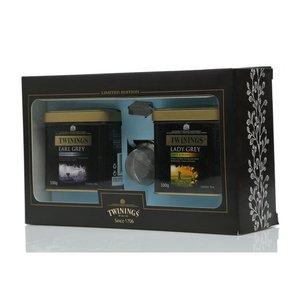 Подарочный набор чая Earl Grey и Lady Grey c ситечком ТМ Twinings (Твайнингс)