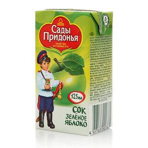Сок зеленое яблоко для детей с 4-х месяцев ТМ Сады Придонья
