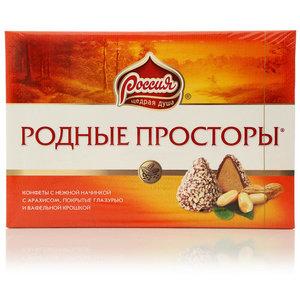 Конфеты с вафельной крошкой Родные просторы ТМ Россия