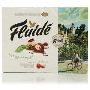 Набор конфет Fluide classique с фундуком в молочном шоколаде